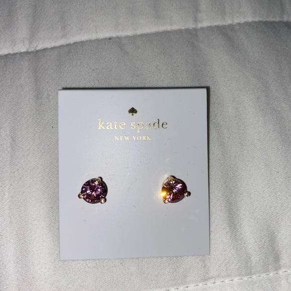Pink gem Kate Spade stud earrings